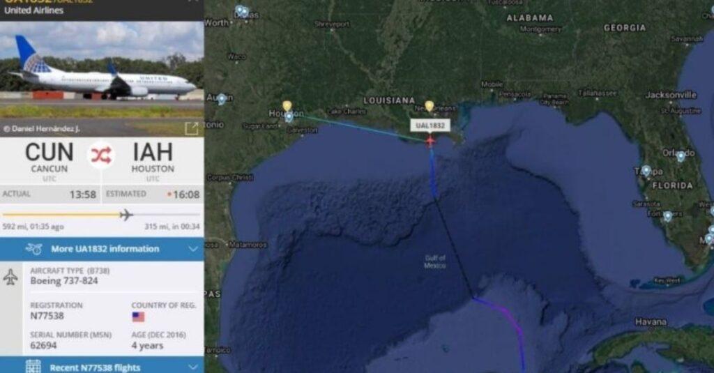 Avión con ruta Cancún - Houston perdió motor sobre el Golfo de México