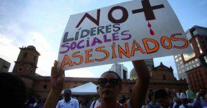 Denuncia por asesinato de líderes sociales en el Pacífico